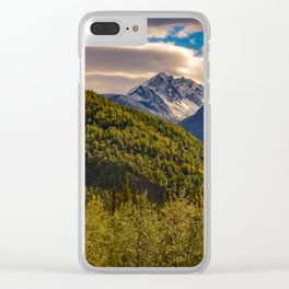 Termination Dust - Glenn Highway, Alaska Clear iPhone Case