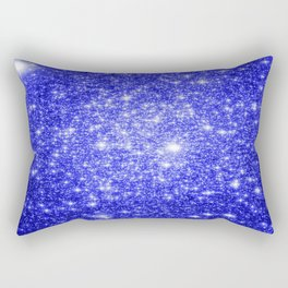 Royal Blue GAlAXY Stars Rectangular Pillow