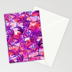 Palm Tree Purple Stationery Cards