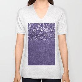 Ultra Violet Glitter Meets Ultra Violet Concrete #1 #decor #art #society6 Unisex V-Neck