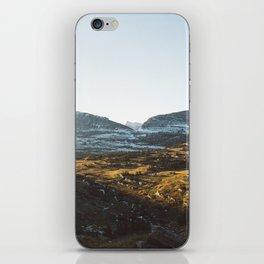 Light Cutting Through the Mountains iPhone Skin