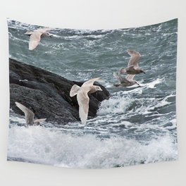 Gulls shop for Dinner Wall Tapestry