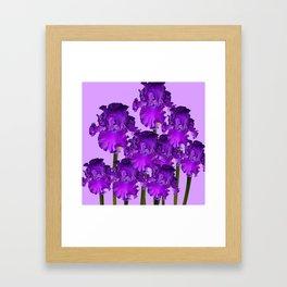 Contemporary Purple Iris Garden Art Framed Art Print
