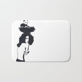 Traveling Panda Bath Mat