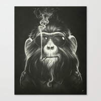 monkey Canvas Prints featuring Smoke 'Em If You Got 'Em by Dr. Lukas Brezak