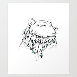 Poetic Bear Art Print