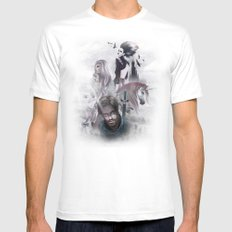 LEYEND White MEDIUM Mens Fitted Tee