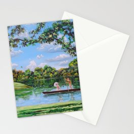 Mary Poppins in the park Stationery Cards
