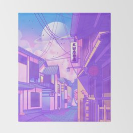 City Pop Kyoto Throw Blanket