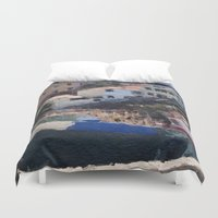 boats Duvet Covers featuring Fishing Boats by Mr and Mrs Quirynen