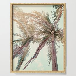 Sunny San Diego Day with Palm Trees Serving Tray