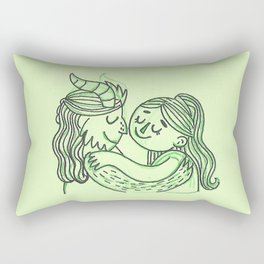 Beauty and the Beast inspired green sketch Rectangular Pillow