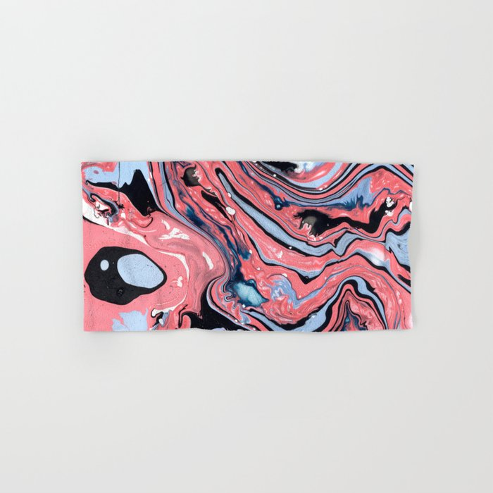 Pink and blue marble Hand & Bath Towel