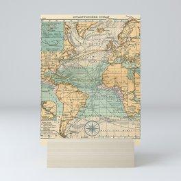 See Atlas 1906 - German Sea Atlas - The Atlantic, Scilly Isles, Sable Island, Panama and Suez Canals Mini Art Print
