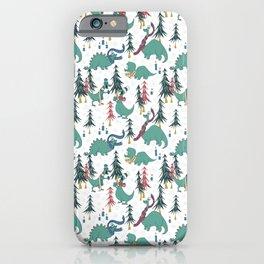 Dinosaur Hygge iPhone Case