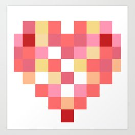 Squares of Love Art Print