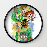 pixar Wall Clocks featuring Disney Pixar Play Parade - Toy Story Unit by Joey Noble