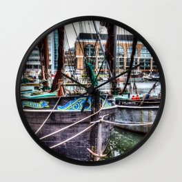 Thames Sailing Barges Wall Clock