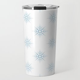 Seamless pattern with blue snowflakes Travel Mug