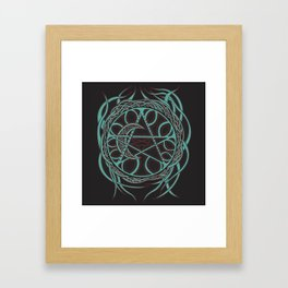 Sun Star and Moon Framed Art Print