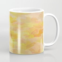 Floating Flowers Painterly Abstract Coffee Mug