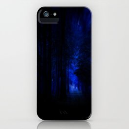 winter night in the magical forest iPhone Case