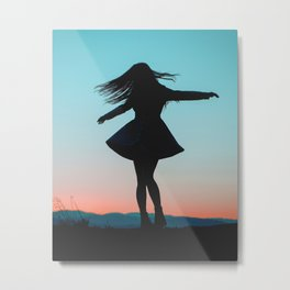 Twirl With The World Metal Print