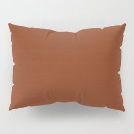 Solid Dark Blood Red Color Pillow Sham