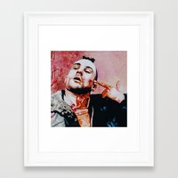 taxi driver Framed Art Prints featuring Taxi driver by BaconFactory