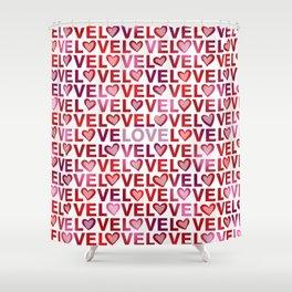 Love Hearts Shower Curtain