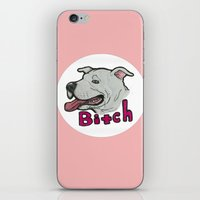 bitch iPhone & iPod Skins featuring bitch by Society's Sick