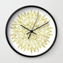 Mandala Yellow Sunflower Wall Clock
