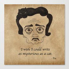 Poe Cat Canvas Print