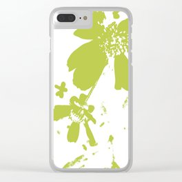 Lime Flower Clear iPhone Case