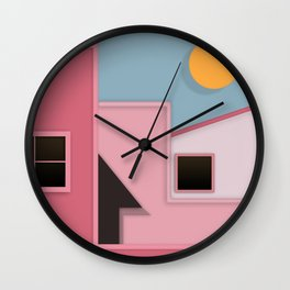 Turning Pink Wall Clock