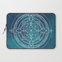 White Mandala - Dusky Blue/Turquoise Laptop Sleeve