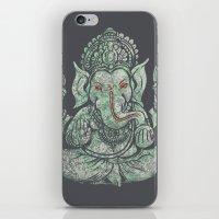 ganesha iPhone & iPod Skins featuring Ganesha by Thomcat23