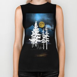 Full Moon Rising II Biker Tank