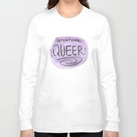 queer Long Sleeve T-shirts featuring Intentional Queer by StarkissCreations