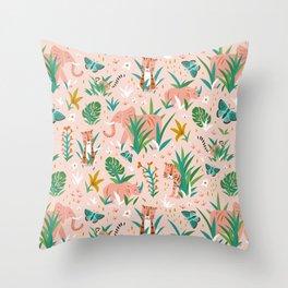 Endangered Wilderness - Blush Pink Throw Pillow