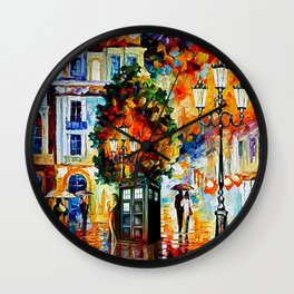 Tardis In The City Wall Clock
