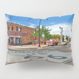 Standin on the Corner Route 66 in USA Pillow Sham