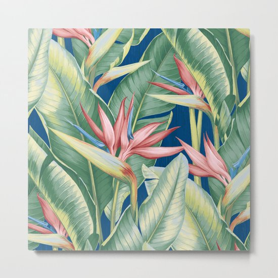 Flowers Birds of Paradise Metal Print