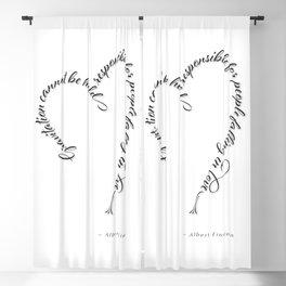 Einstein Love Quote Blackout Curtain