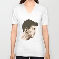 messi V-neck T-shirts featuring Messi by The World Cup Draw