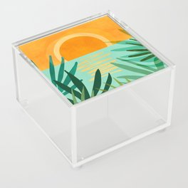Peaceful Tropics / Sunset Landscape Acrylic Box