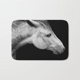 Casper | Horse Photography | Animal Art | Minimalism | Nature | black-and-white Bath Mat