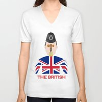 british flag V-neck T-shirts featuring The British by Dano77