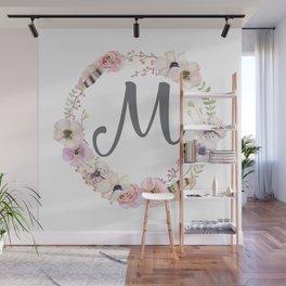 Floral Wreath - M Wall Mural