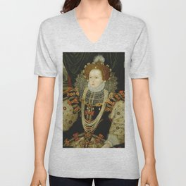 Portrait of Elizabeth I Unisex V-Neck